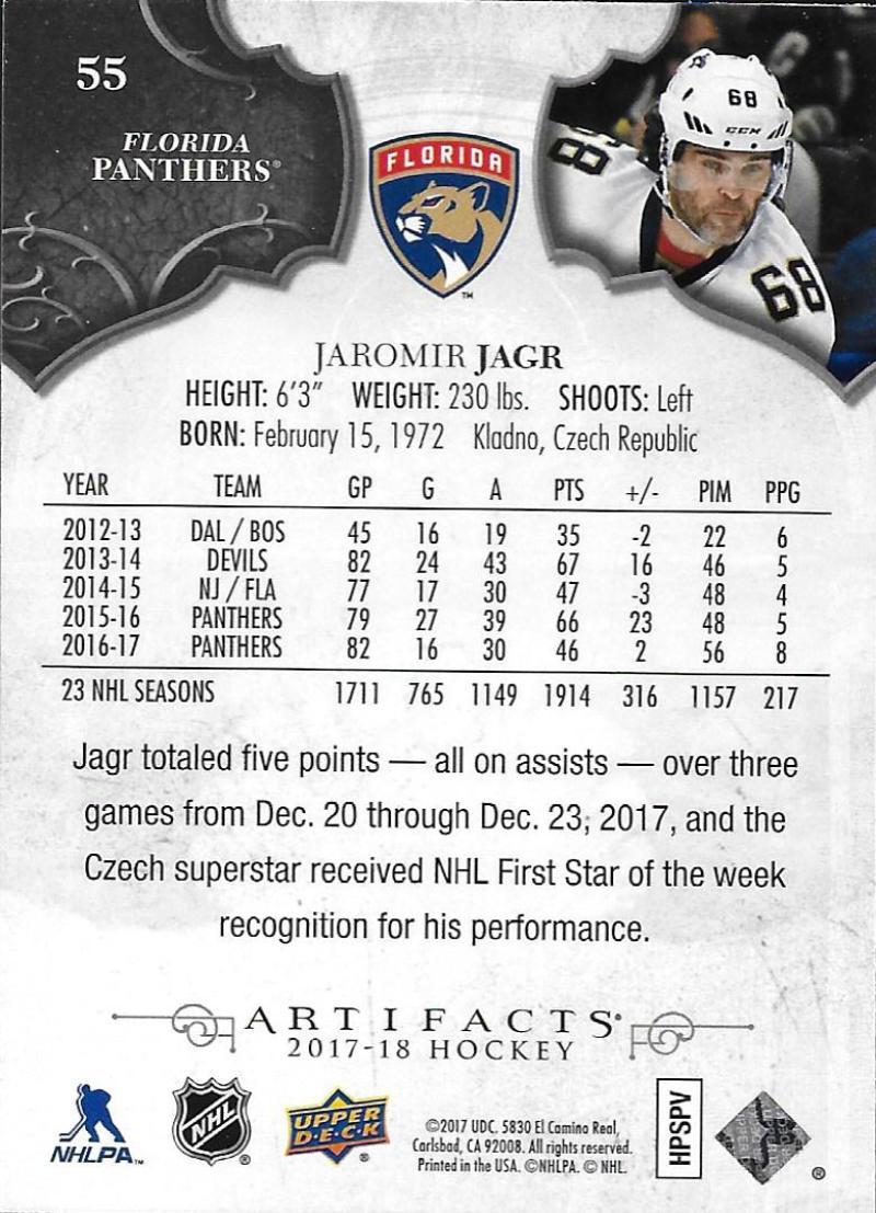 2017-18-Upper-Deck-Artifacts-Hockey-Base-Set-Cards-Choose-Card-039-s-1-100 thumbnail 100