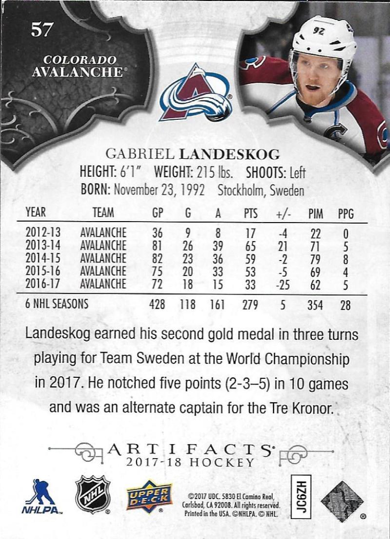 2017-18-Upper-Deck-Artifacts-Hockey-Base-Set-Cards-Choose-Card-039-s-1-100 thumbnail 104