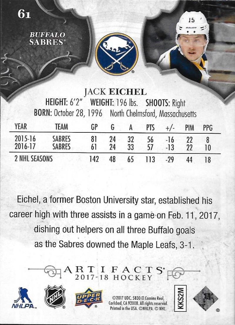 2017-18-Upper-Deck-Artifacts-Hockey-Base-Set-Cards-Choose-Card-039-s-1-100 thumbnail 112