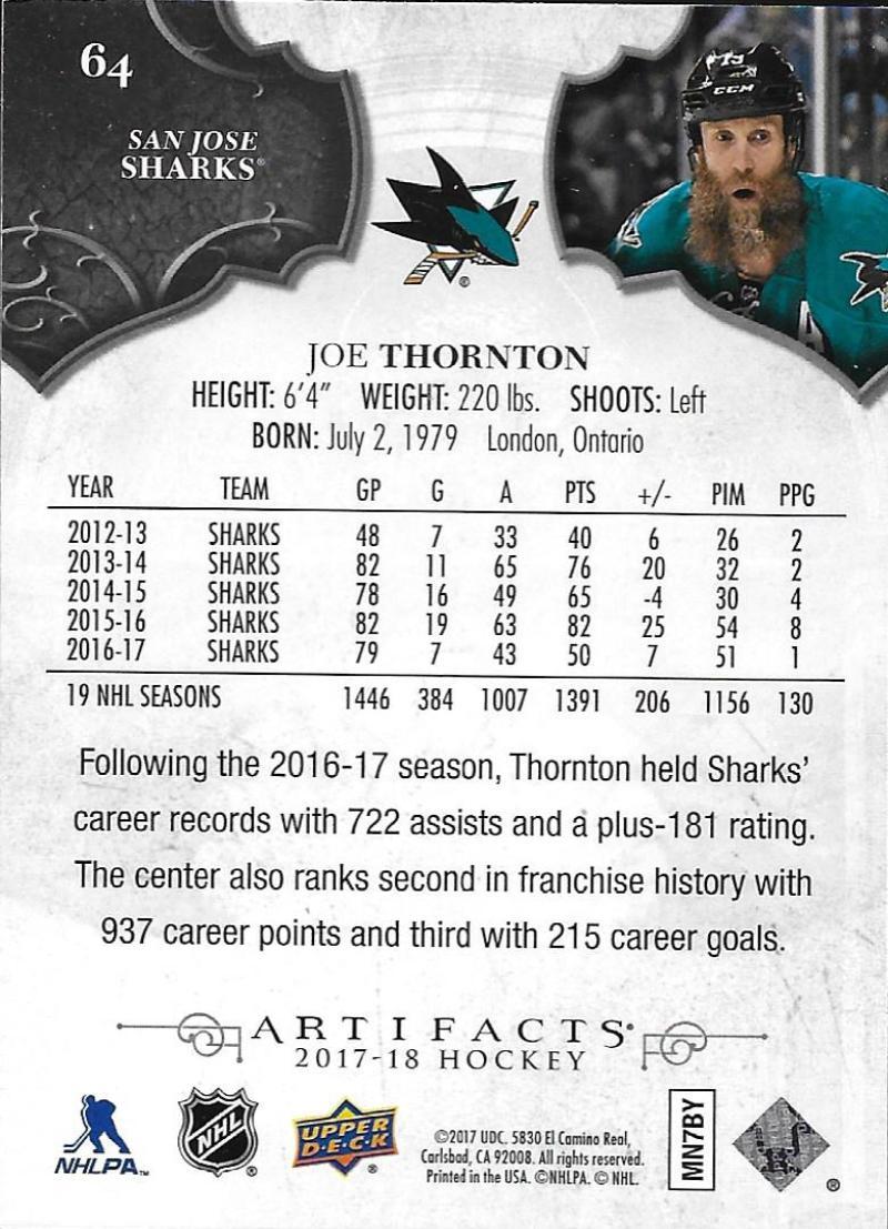 2017-18-Upper-Deck-Artifacts-Hockey-Base-Set-Cards-Choose-Card-039-s-1-100 thumbnail 118