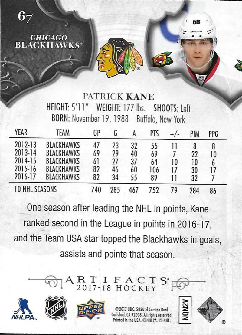 2017-18-Upper-Deck-Artifacts-Hockey-Base-Set-Cards-Choose-Card-039-s-1-100 thumbnail 122