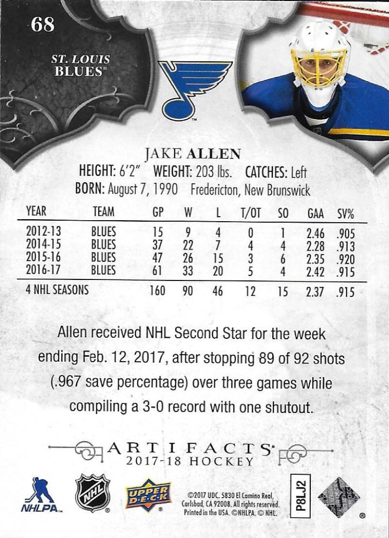 2017-18-Upper-Deck-Artifacts-Hockey-Base-Set-Cards-Choose-Card-039-s-1-100 thumbnail 124