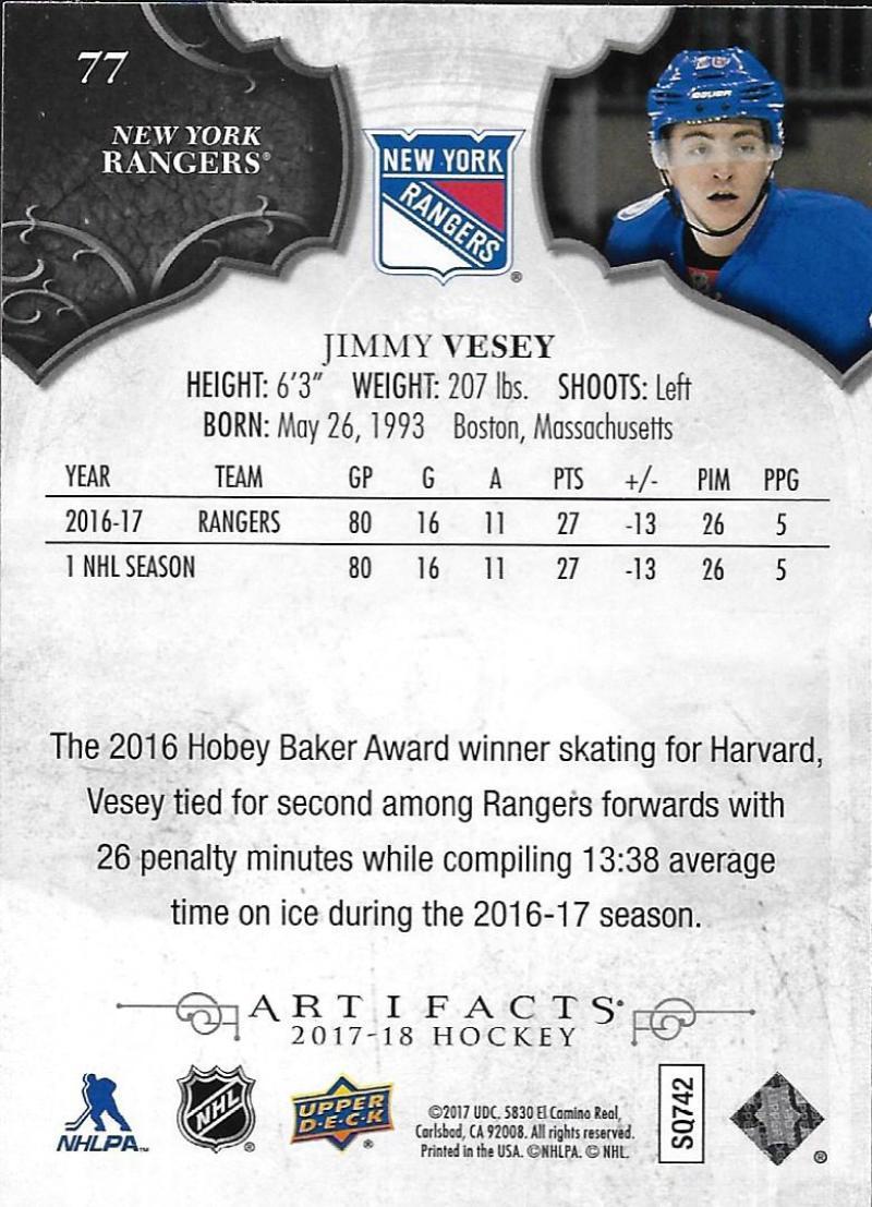 2017-18-Upper-Deck-Artifacts-Hockey-Base-Set-Cards-Choose-Card-039-s-1-100 thumbnail 140