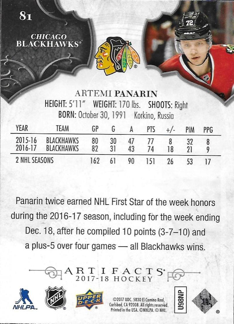 2017-18-Upper-Deck-Artifacts-Hockey-Base-Set-Cards-Choose-Card-039-s-1-100 thumbnail 148