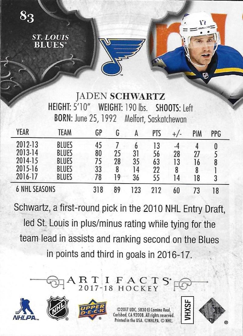 2017-18-Upper-Deck-Artifacts-Hockey-Base-Set-Cards-Choose-Card-039-s-1-100 thumbnail 152