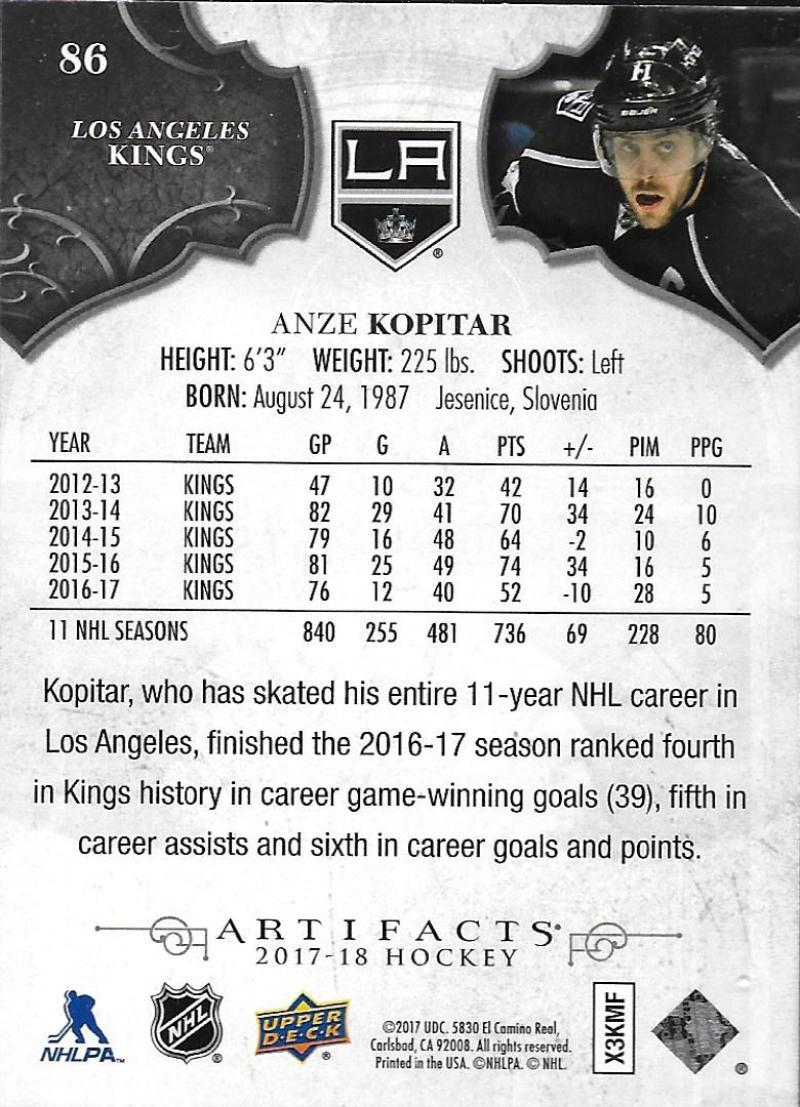 2017-18-Upper-Deck-Artifacts-Hockey-Base-Set-Cards-Choose-Card-039-s-1-100 thumbnail 158