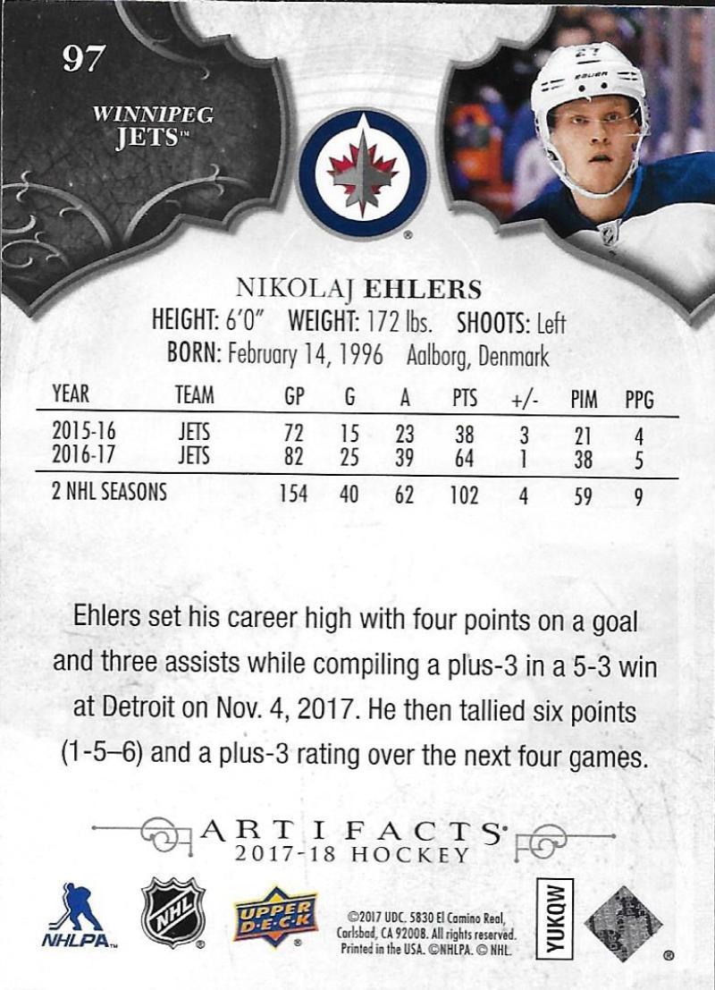 2017-18-Upper-Deck-Artifacts-Hockey-Base-Set-Cards-Choose-Card-039-s-1-100 thumbnail 180