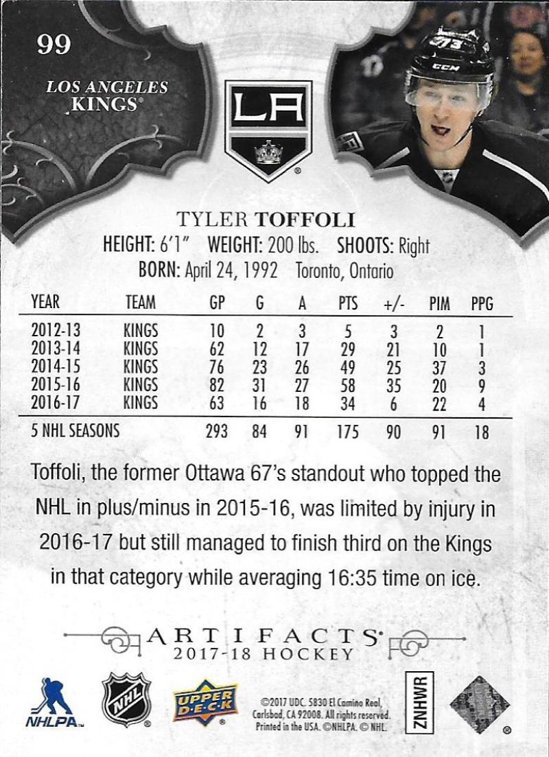 2017-18-Upper-Deck-Artifacts-Hockey-Base-Set-Cards-Choose-Card-039-s-1-100 thumbnail 184