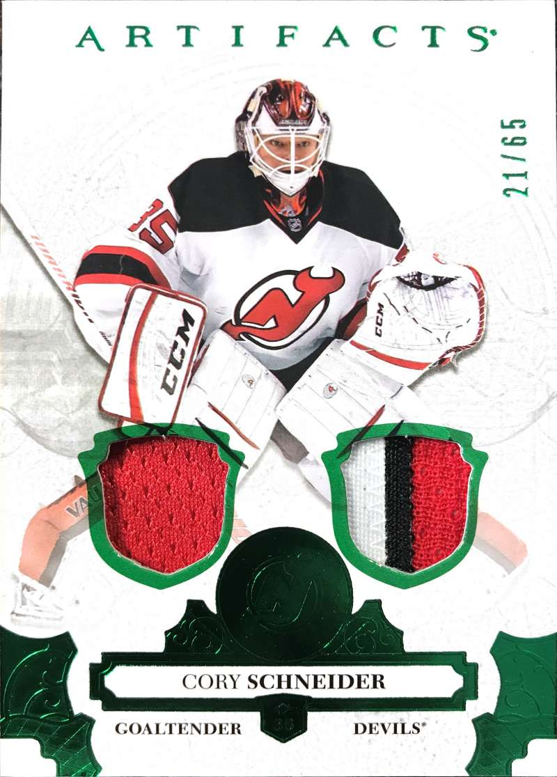2017-18 Upper Deck Artifacts Material Emerald