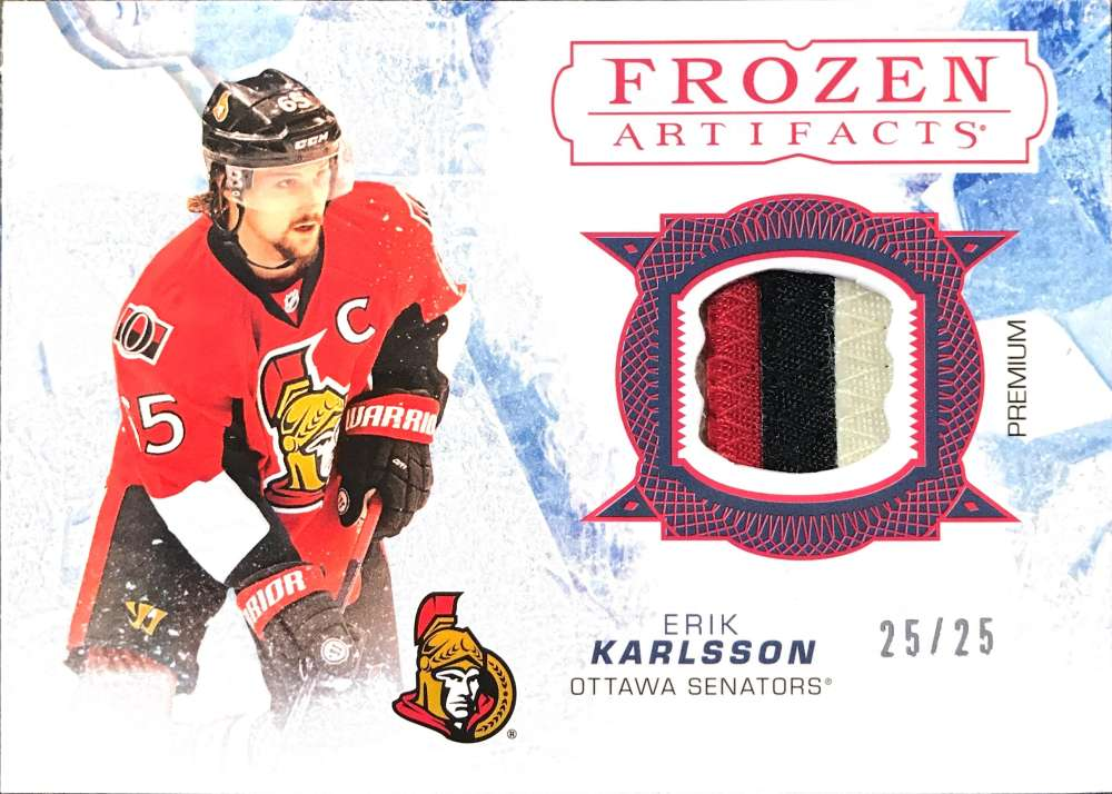 2017-18 Upper Deck Artifacts Frozen Artifacts Jerseys Red
