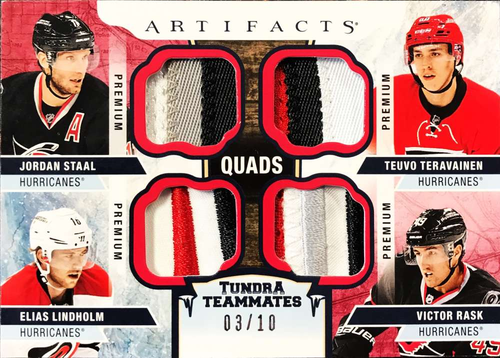 2017-18 Upper Deck Artifacts Tundra Teammates Quad Jerseys Red