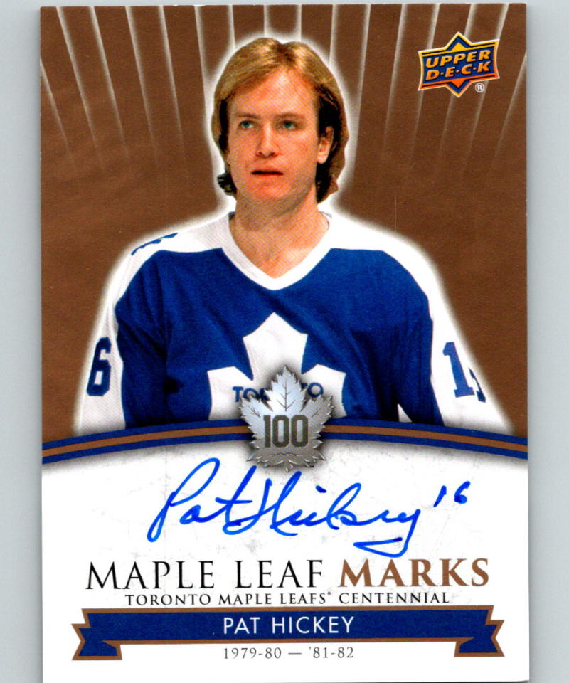 2017-18 Upper Deck Toronto Maple Leafs Centennial Marks Autographs