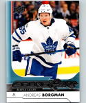 2017-18 Upper Deck #229 Andreas Borgman YG RC Rookie Toronto Maple Leafs
