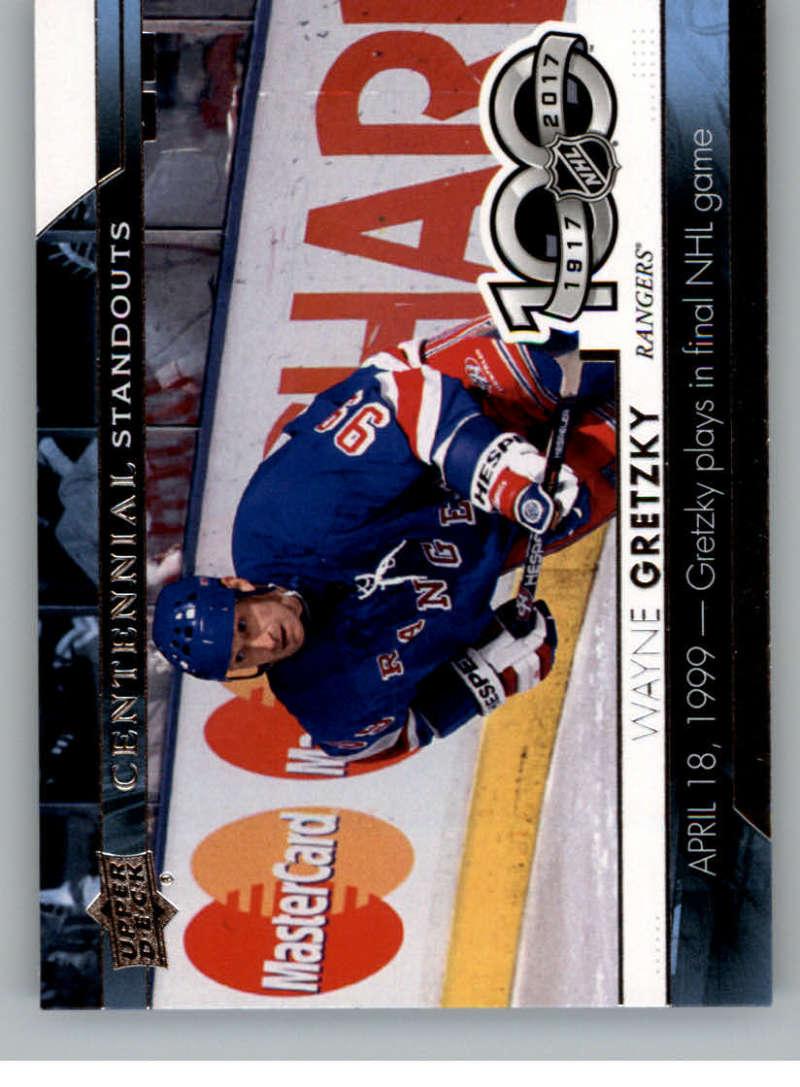 2017-18 Upper Deck Centennial Standouts #CS-25 Wayne Gretzky New York Rangers