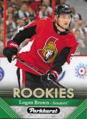 2017-18 Parkhurst NHL Hockey Trading Card #297 Logan Brown RC Rookie Ottawa Senators