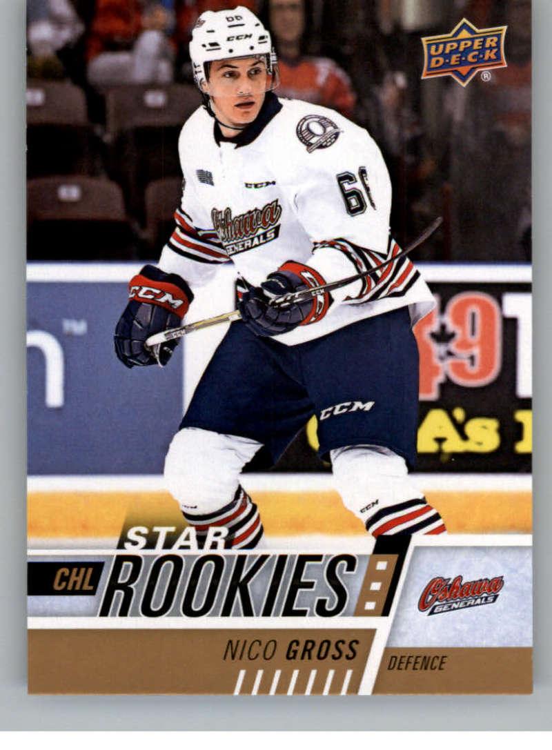2017-18 Upper Deck CHL #342 Nico Gross RC Rookie SP Oshawa Generals Star Rookies Canadian Hockey League Card