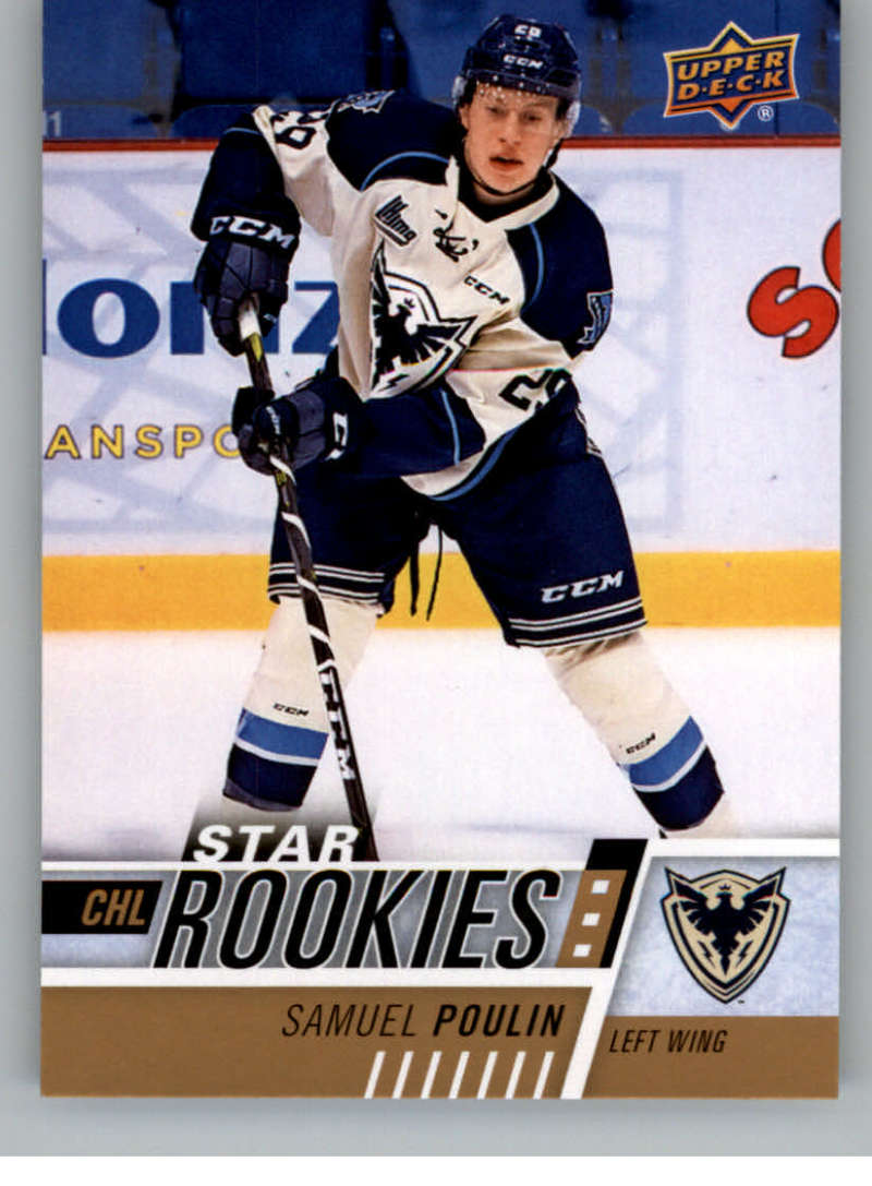 2017-18 Upper Deck CHL #371 Samuel Poulin RC Rookie SP Sherbrooke Phoenix Star Rookies Canadian Hockey League Card