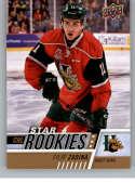 2017-18 Upper Deck CHL #345 Filip Zadina RC Rookie SP Halifax Mooseheads Star Rookies Canadian Hockey League Card