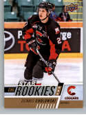 2017-18 Upper Deck CHL #383 Dennis Cholowski RC Rookie SP Prince George Cougars Star Rookies Canadian Hockey League Card