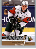 2017-18 Upper Deck CHL #386 Xavier Parent RC Rookie SP Halifax Mooseheads Star Rookies Canadian Hockey League Card