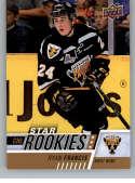 2017-18 Upper Deck CHL #388 Ryan Francis RC Rookie SP Cape Breton Screaming Eagles Star Rookies Canadian Hockey League C