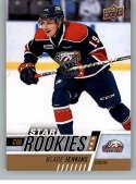 2017-18 Upper Deck CHL #397 Blade Jenkins RC Rookie SP Saginaw Spirit Star Rookies Canadian Hockey League Card