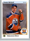 2017-18 SP Authentic 1990-91 Retro Draft Picks #RDP-CM Connor McDavid Edmonton Oilers NHL Hockey Card