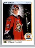 2017-18 SP Authentic 1990-91 Retro Draft Picks #RDP-EK Erik Karlsson Ottawa Senators NHL Hockey Card