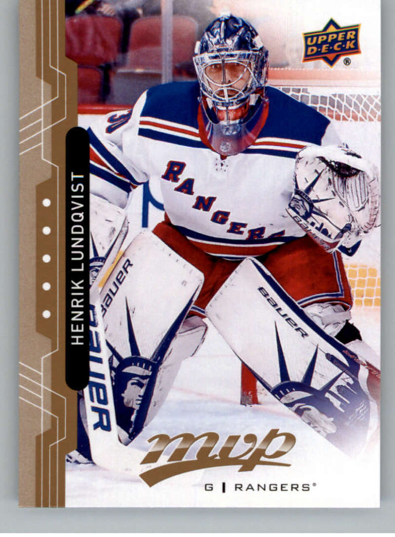 2018-19 UD MVP #218 Henrik Lundqvist New York Rangers NM-MT