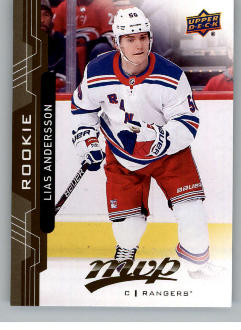 2018-19 UD MVP #246 Lias Andersson RC Rookie Card New York Rangers NM-MT
