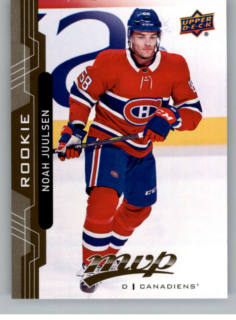 2018-19 UD MVP #250 Noah Juulsen RC Rookie Card Montreal Canadiens NM-MT