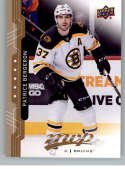 2018-19 UD MVP #209 Patrice Bergeron Boston Bruins NM-MT