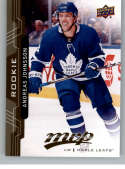 2018-19 UD MVP #249 Andreas Johnsson RC Rookie Card Toronto Maple Leafs NM-MT