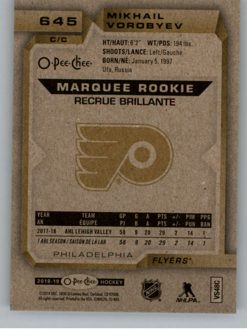 2018-19-UD-Series-2-O-Pee-Chee-Marquee-Rookies-RC-Hockey-Card-Singles-You-Pick miniature 11