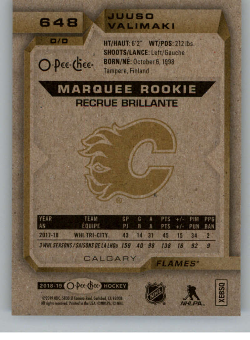 2018-19-UD-Series-2-O-Pee-Chee-Marquee-Rookies-RC-Hockey-Card-Singles-You-Pick miniature 25