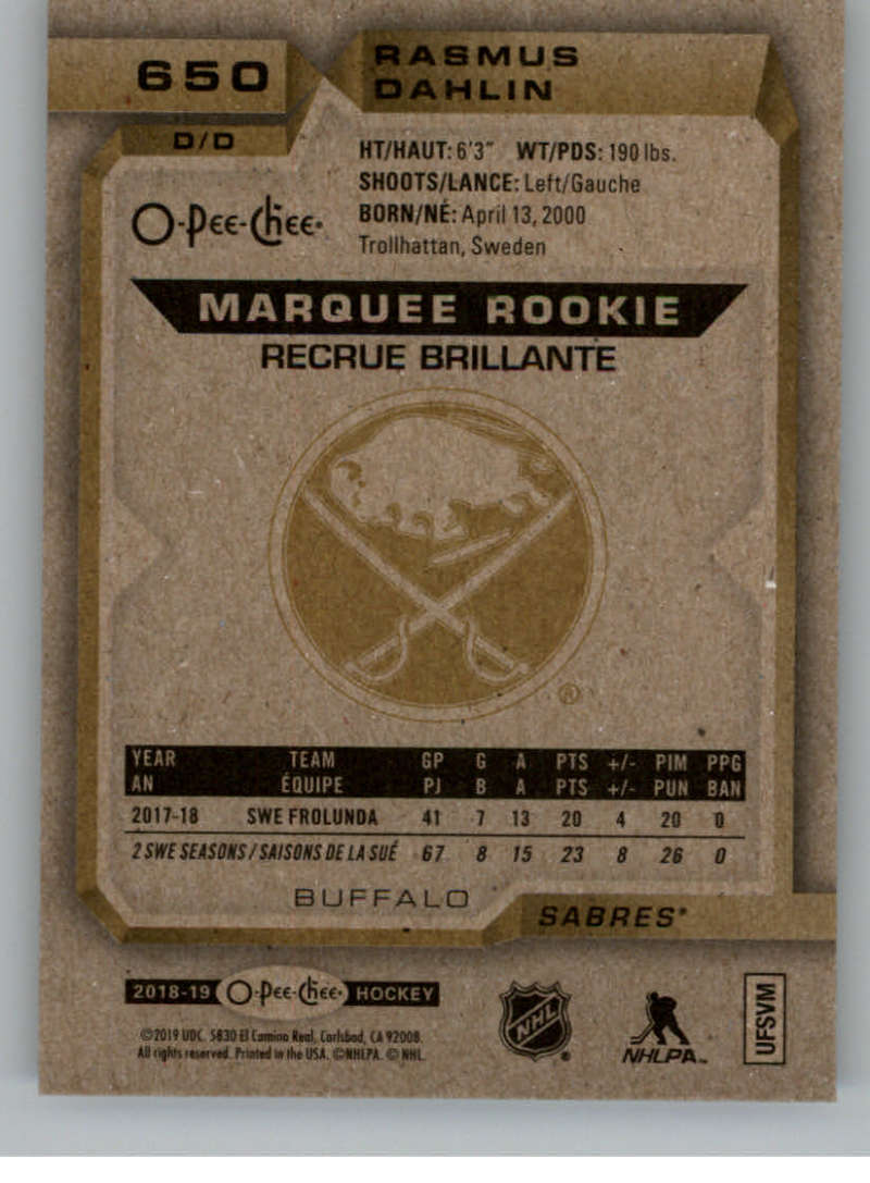 2018-19-UD-Series-2-O-Pee-Chee-Marquee-Rookies-RC-Hockey-Card-Singles-You-Pick miniature 27