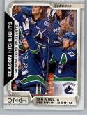 2018-19 O-Pee-Chee #557 Daniel Sedin/Henrik Sedin NM-MT SP Canucks  Official NHL Hockey Card