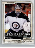 2018-19 OPC O-Pee-Chee Hockey #594 Connor Hellebuyck SP Winnipeg Jets  Team Checklist SP Official 18/19 NHL Trading Card