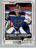 2018-19 O-Pee-Chee #596 Carter Hutton NM-MT SP St. Louis Blues  Official NHL Hockey Card