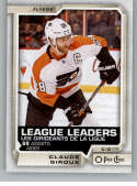 2018-19 O-Pee-Chee #599 Claude Giroux NM-MT SP Philadelphia Flyers  Official NHL Hockey Card