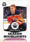 2018-19 O-Pee-Chee Retro #554 Connor McDavid Edmonton Oilers  Season Highlights 18-19 Official OPC Hockey Card (made by Upper Deck)