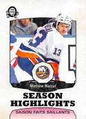 2018-19 O-Pee-Chee Retro #556 Mathew Barzal New York Islanders  Season Highlights 18-19 Official OPC Hockey Card (made by Upper Deck)