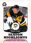 2018-19 O-Pee-Chee Retro #559 Sidney Crosby Pittsburgh Penguins  Season Highlights 18-19 Official OPC Hockey Card (made by Upper Deck)