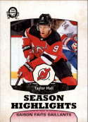 2018-19 O-Pee-Chee Retro #560 Taylor Hall New Jersey Devils  Season Highlights 18-19 Official OPC Hockey Card (made by Upper Deck)