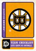 2018-19 O-Pee-Chee Retro #562 Boston Bruins  Logo / Team Checklist 18-19 Official OPC Hockey Card (made by Upper Deck)