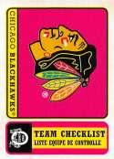 2018-19 O-Pee-Chee Retro #583 Chicago Blackhawks  Logo / Team Checklist 18-19 Official OPC Hockey Card (made by Upper Deck)