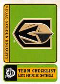 2018-19 O-Pee-Chee Retro #584 Vegas Golden Knights  Logo / Team Checklist 18-19 Official OPC Hockey Card (made by Upper Deck)