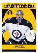 2018-19 O-Pee-Chee Retro #594 Connor Hellebuyck Winnipeg Jets  League Leaders 18-19 Official OPC Hockey Card (made by Upper Deck)