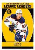 2018-19 O-Pee-Chee Retro #595 Connor McDavid Edmonton Oilers  League Leaders 18-19 Official OPC Hockey Card (made by Upper Deck)