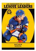 2018-19 O-Pee-Chee Retro #600 Mathew Barzal New York Islanders  League Leaders 18-19 Official OPC Hockey Card (made by Upper Deck)